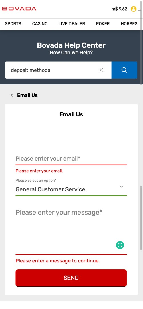 Bovada Email Customer Service
