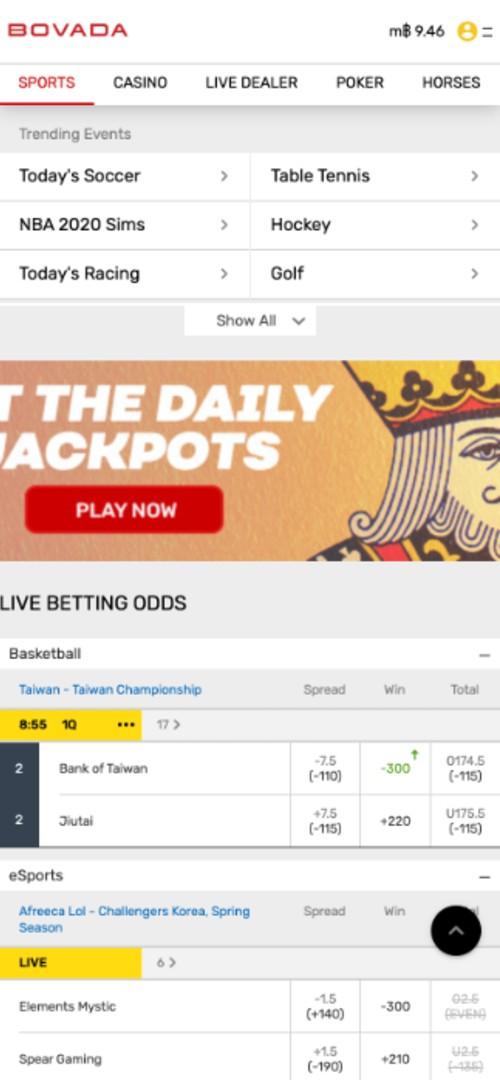 Placing a bet part 1