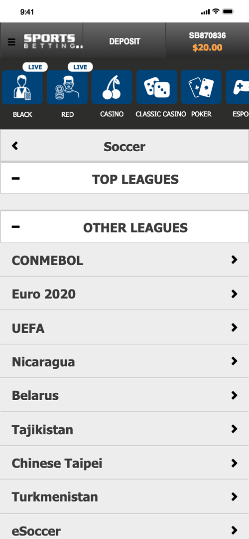 Betonline.ag Betting Screen Two
