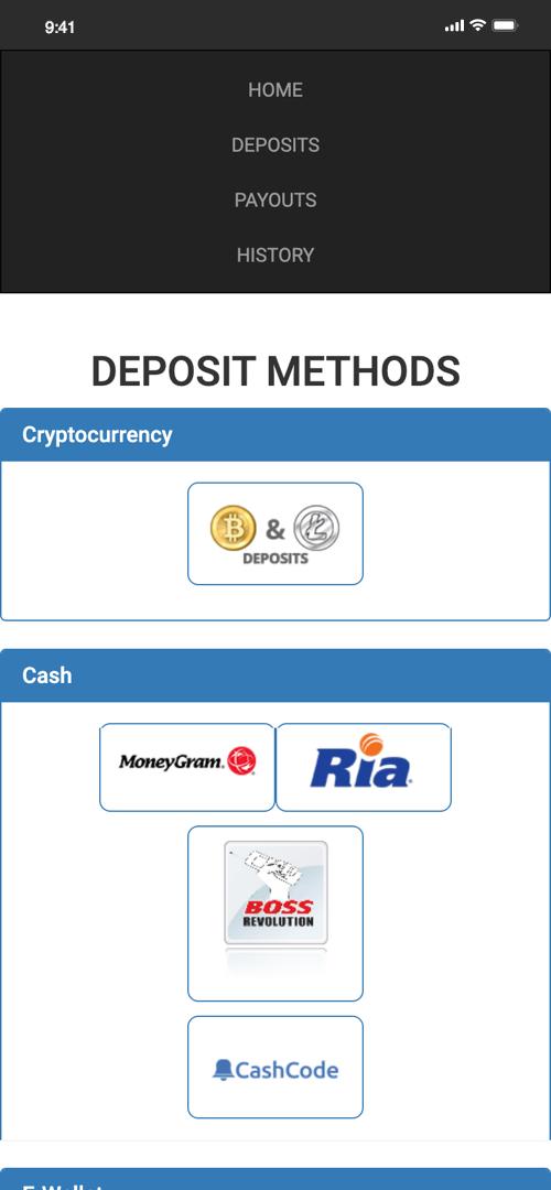 Skybook deposit options