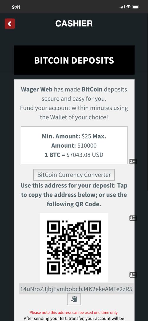 Wagerweb Deposit Screen Four