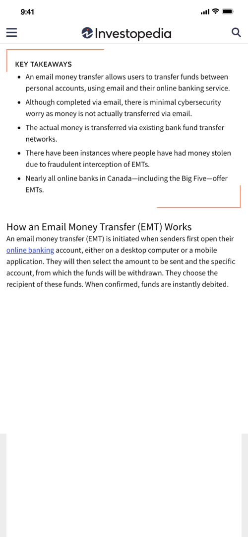Email Money Screenshot