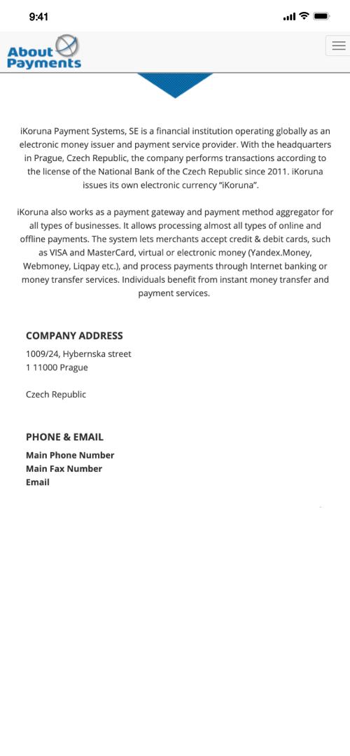 Ikoruna Informaton Screenshot