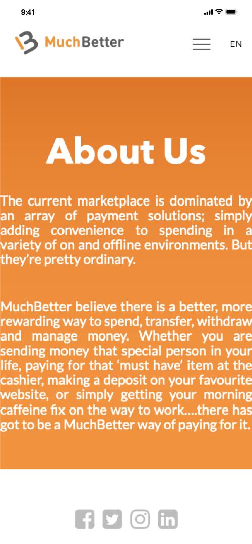 Muchbetter AboutUs Screenshot