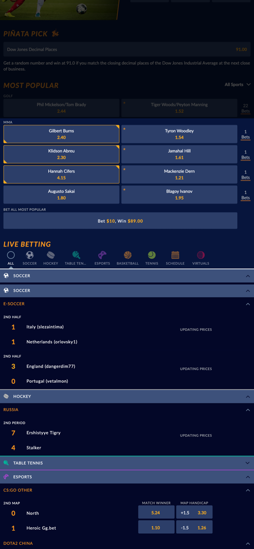 SportsInteraction Parlay Betting Screen Three