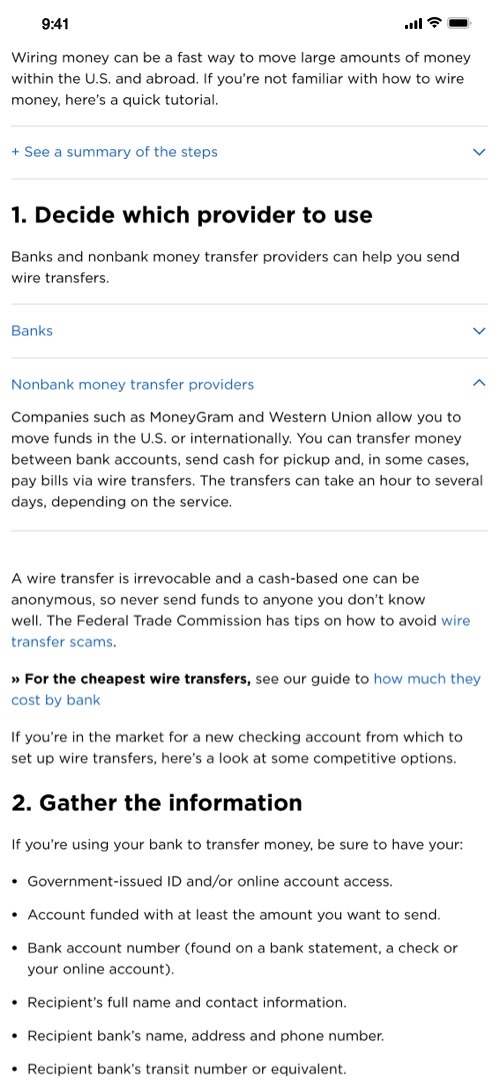 Wire Transfer Screenshot One Screenshot