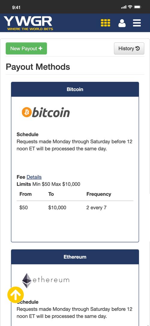 Youwager bitcoin payout
