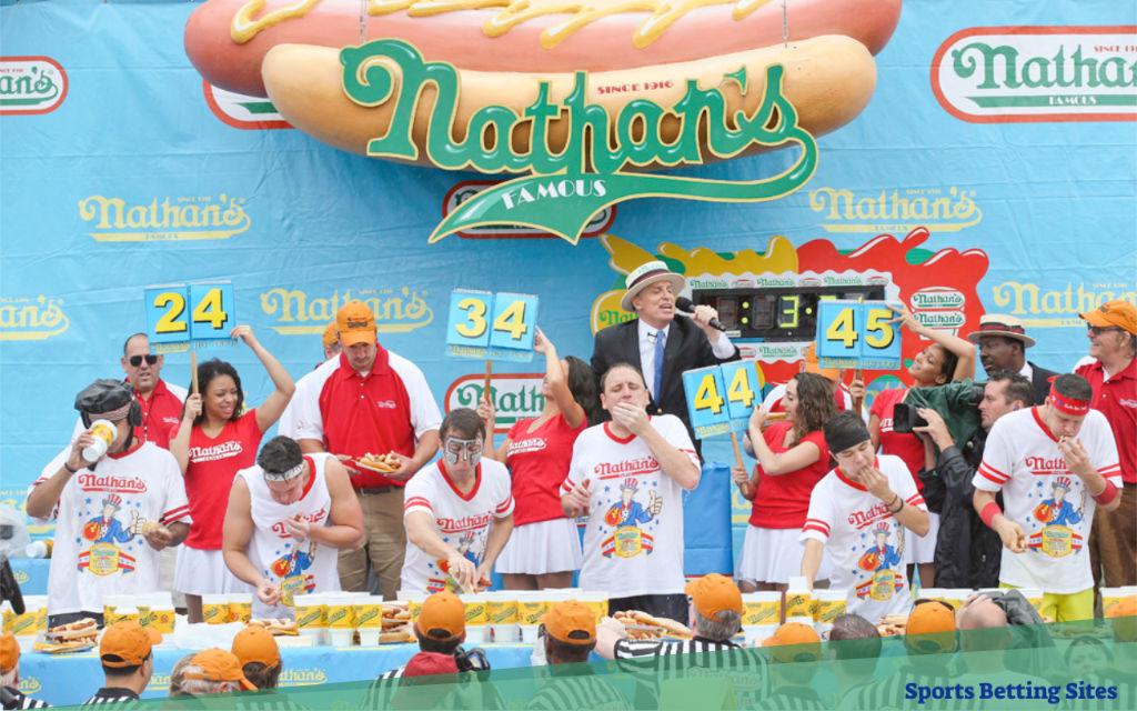nathans favorite hotdog eating contests betting odds